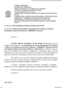 thumbnail SENTENÇA – SINSERCON X CREMERS